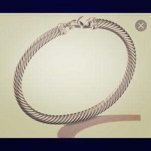 David Yurman Bracelet silver with diamonds